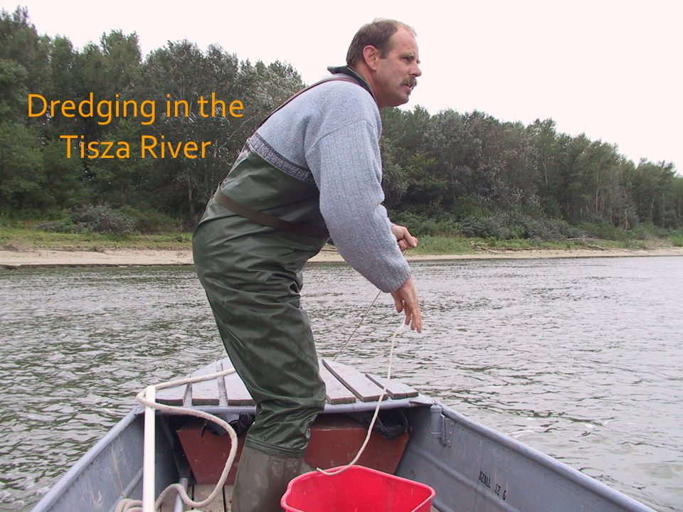 Dredging in the Tisza River