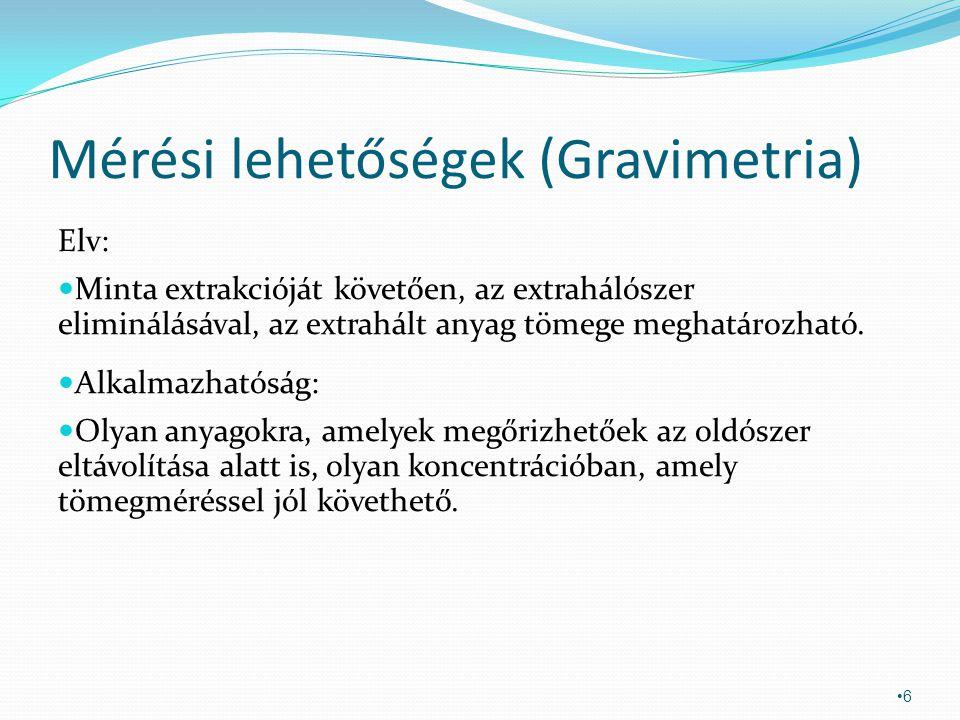 Mérési lehetőségek (Gravimetria)