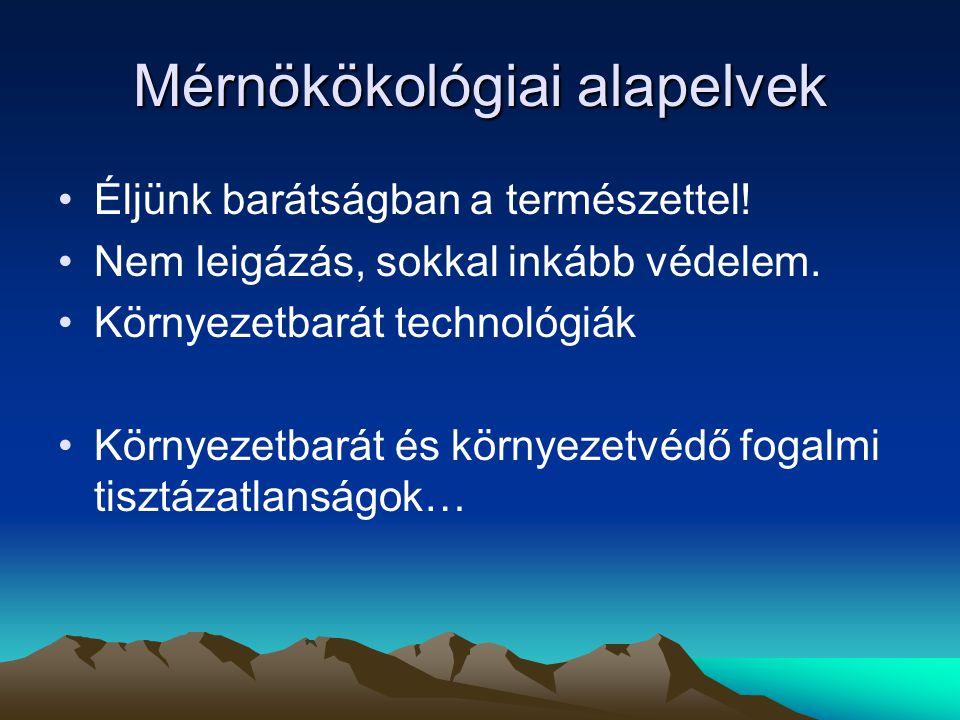 Mérnökökológiai alapelvek