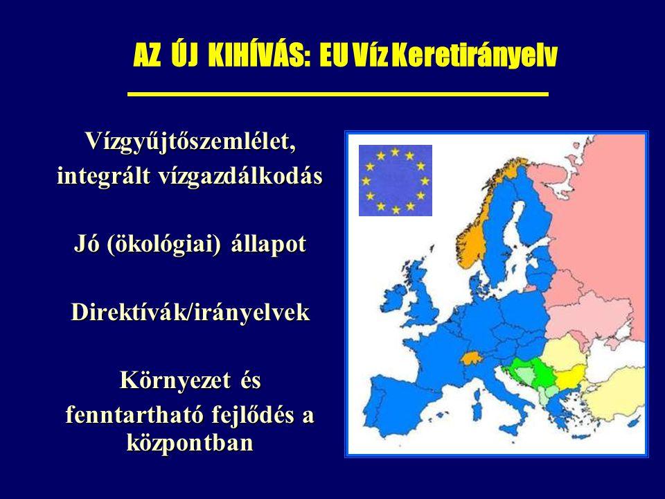 AZ ÚJ KIHÍVÁS: EU Víz Keretirányelv