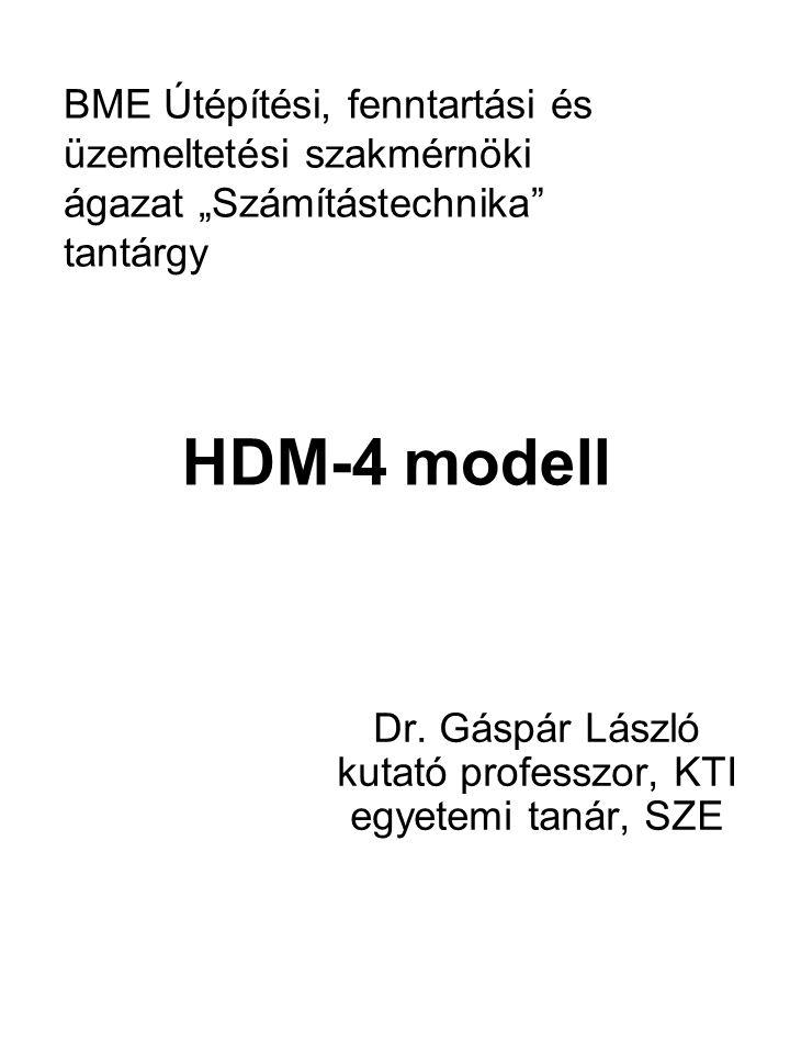 Dr. Gáspár László kutató professzor, KTI egyetemi tanár, SZE