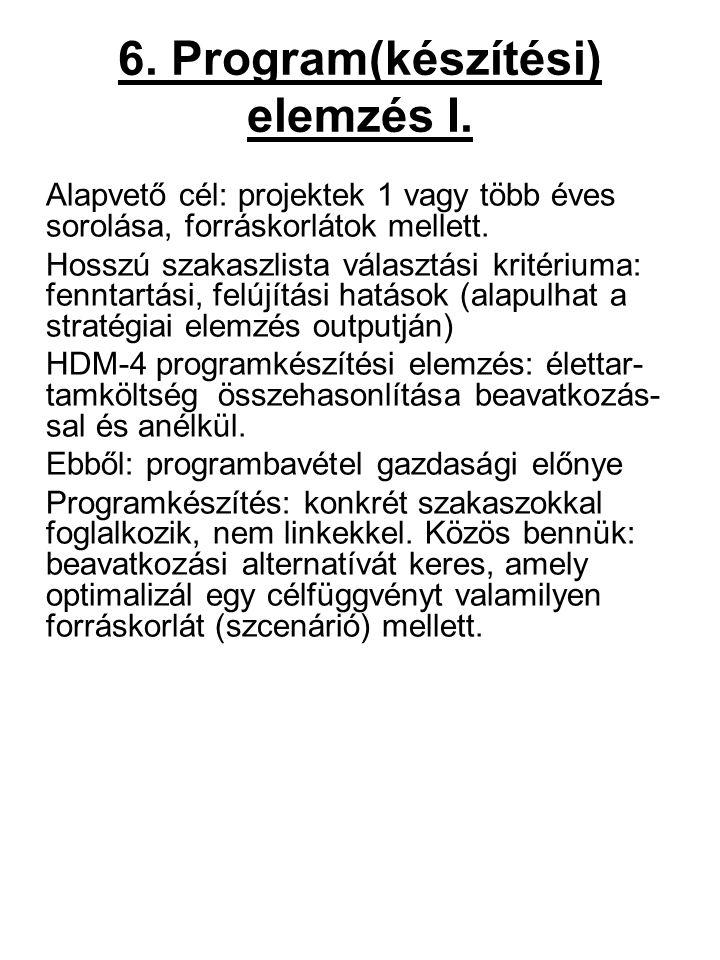 6. Program(készítési) elemzés I.
