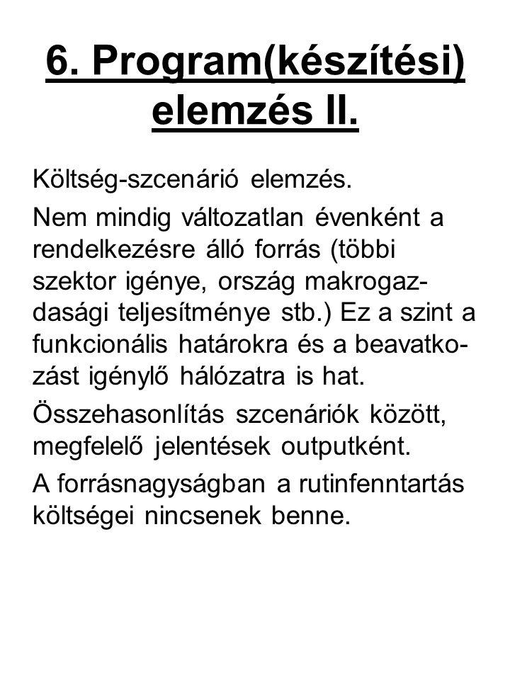 6. Program(készítési) elemzés II.