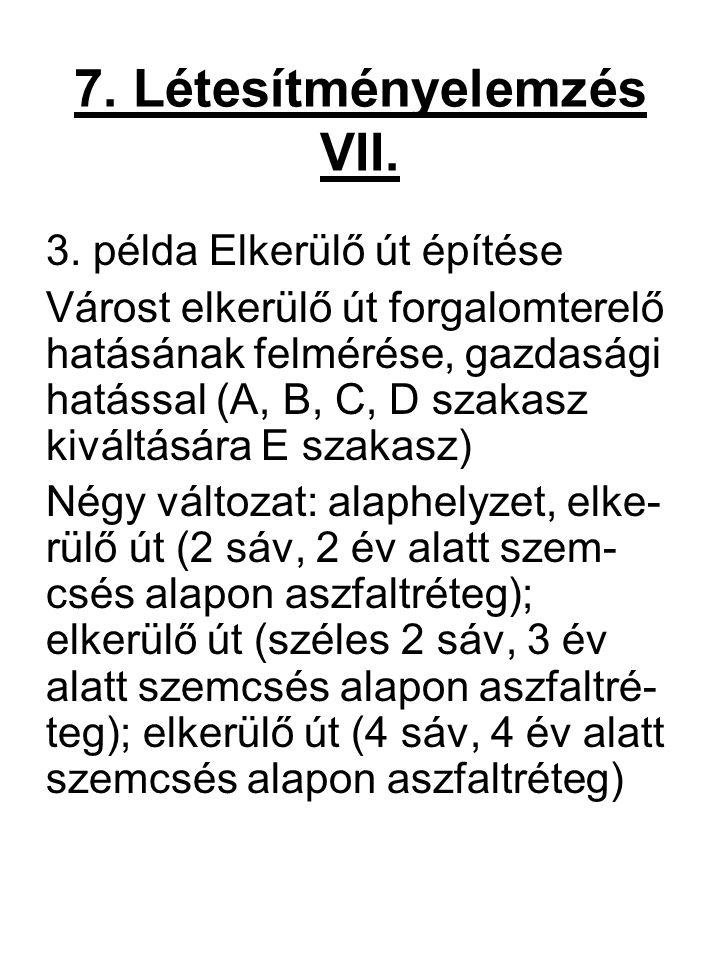7. Létesítményelemzés VII.