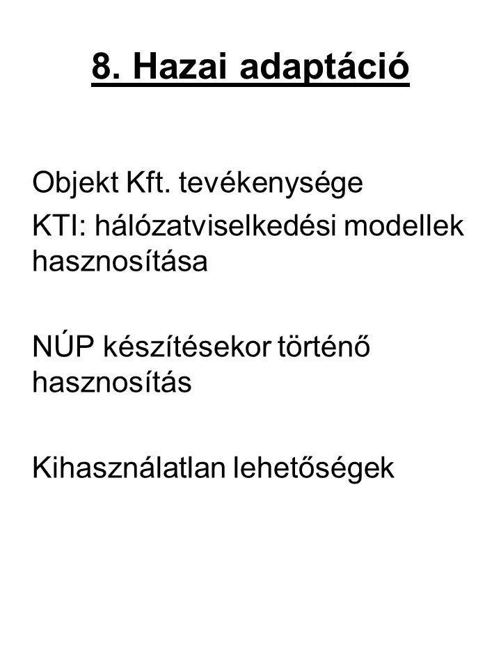 8. Hazai adaptáció Objekt Kft. tevékenysége