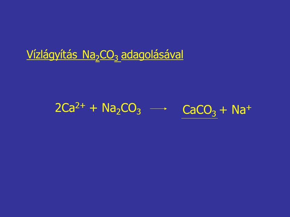 Vízlágyítás Na2CO3 adagolásával