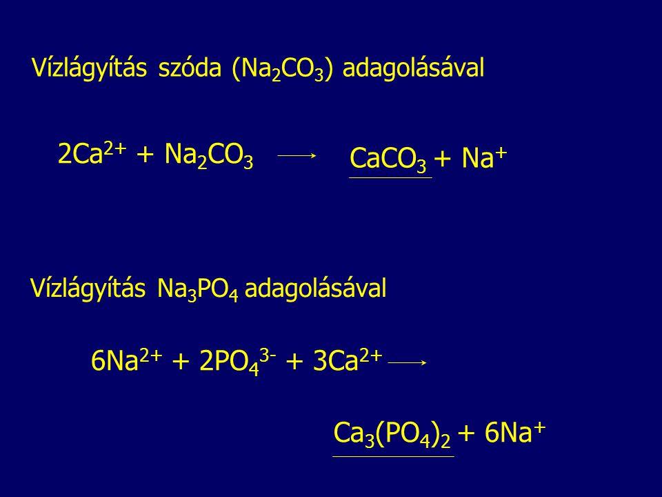 2Ca2+ + Na2CO3 CaCO3 + Na+ 6Na2+ + 2PO43- + 3Ca2+ Ca3(PO4)2 + 6Na+