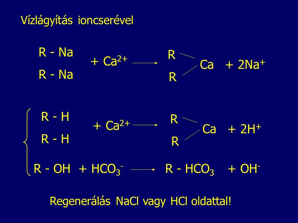 R - Na R + Ca2+ Ca + 2Na+ R - Na R R - H R + Ca2+ Ca + 2H+ R - H R