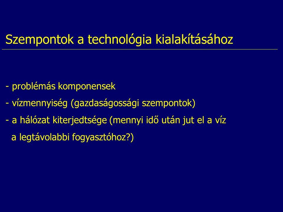 Szempontok a technológia kialakításához