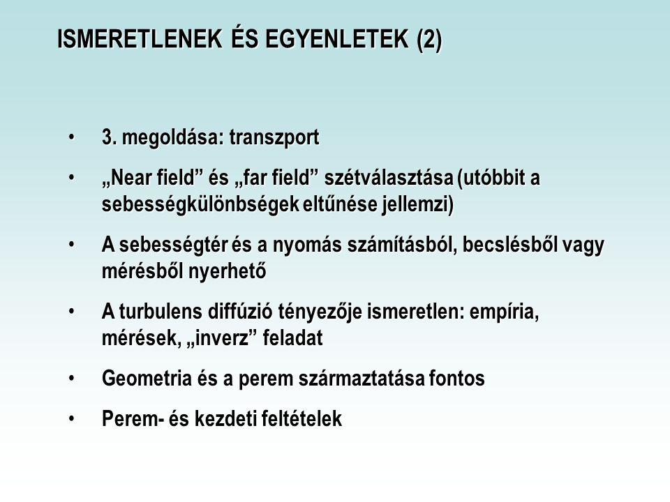 ISMERETLENEK ÉS EGYENLETEK (2)