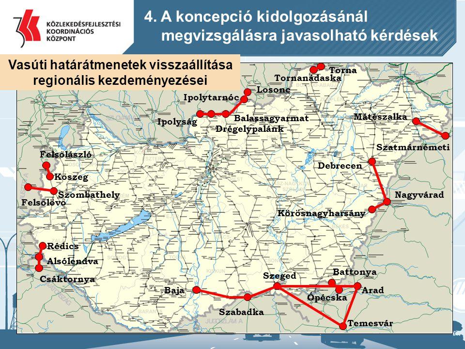 Vasúti határátmenetek visszaállítása regionális kezdeményezései