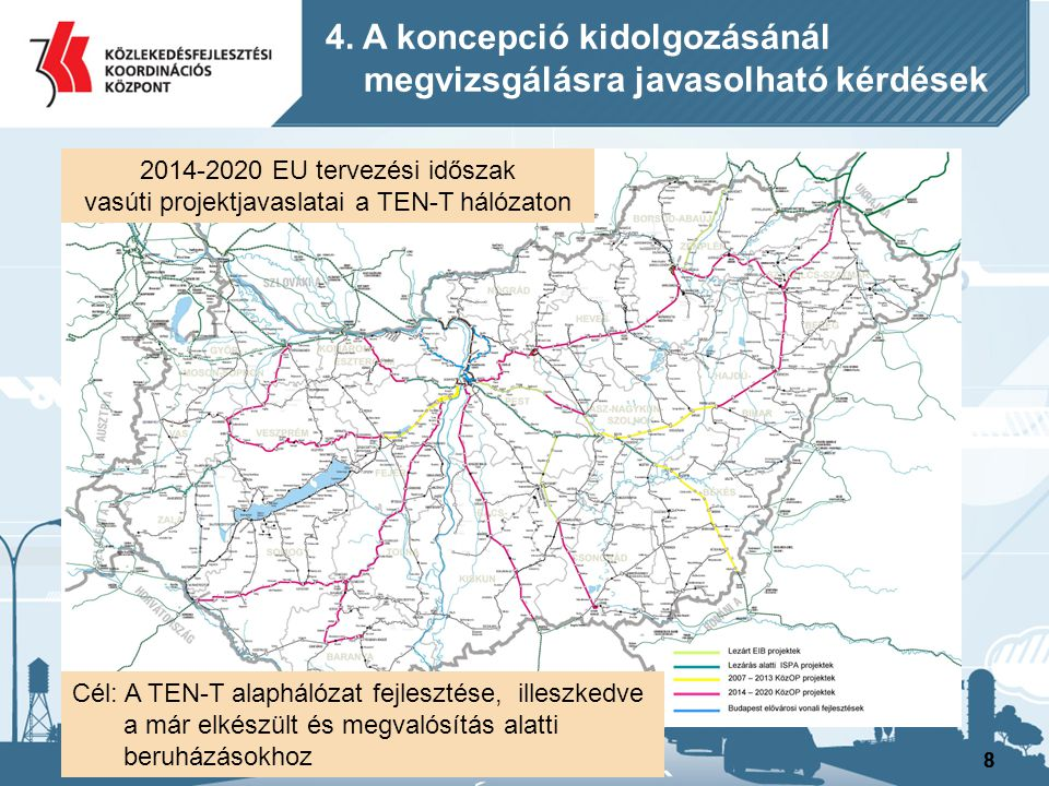 vasúti projektjavaslatai a TEN-T hálózaton