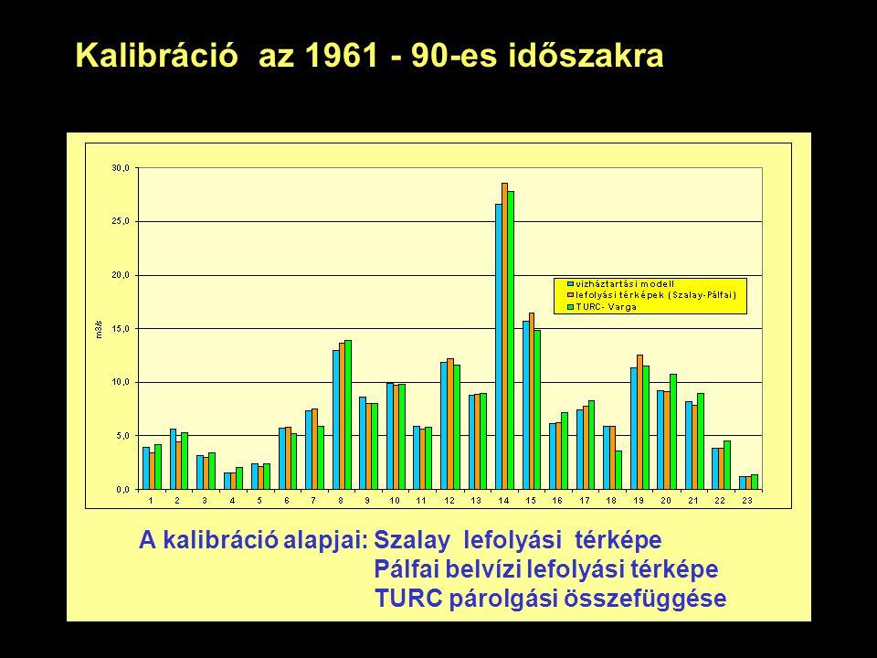 Kalibráció az 1961 - 90-es időszakra