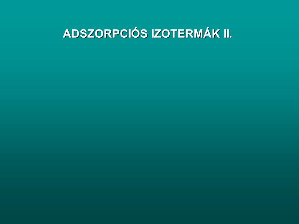 ADSZORPCIÓS IZOTERMÁK II.