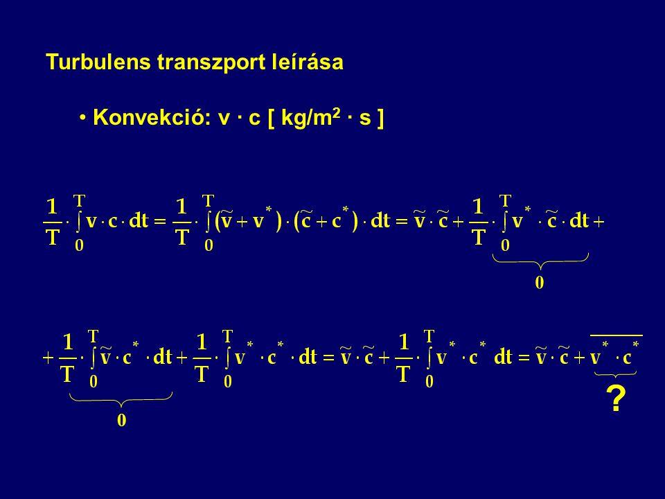 Turbulens transzport leírása