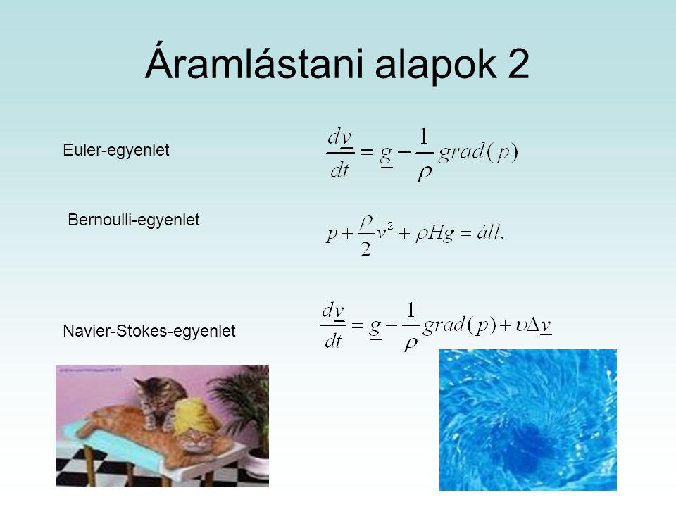Áramlástani alapok 2 Euler-egyenlet Bernoulli-egyenlet