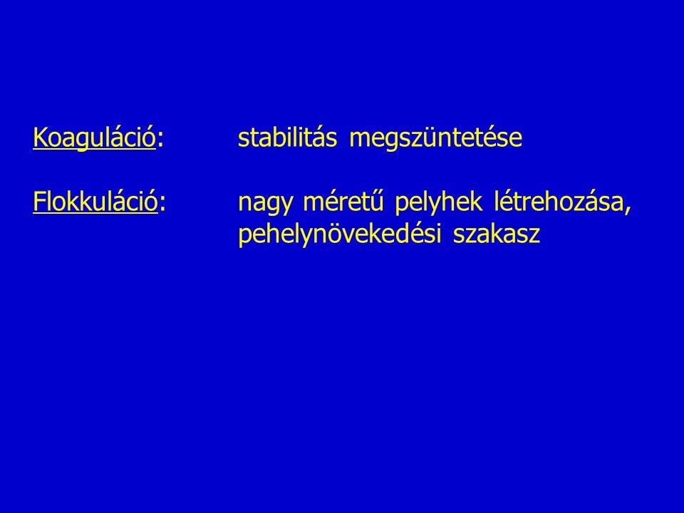Koaguláció: stabilitás megszüntetése