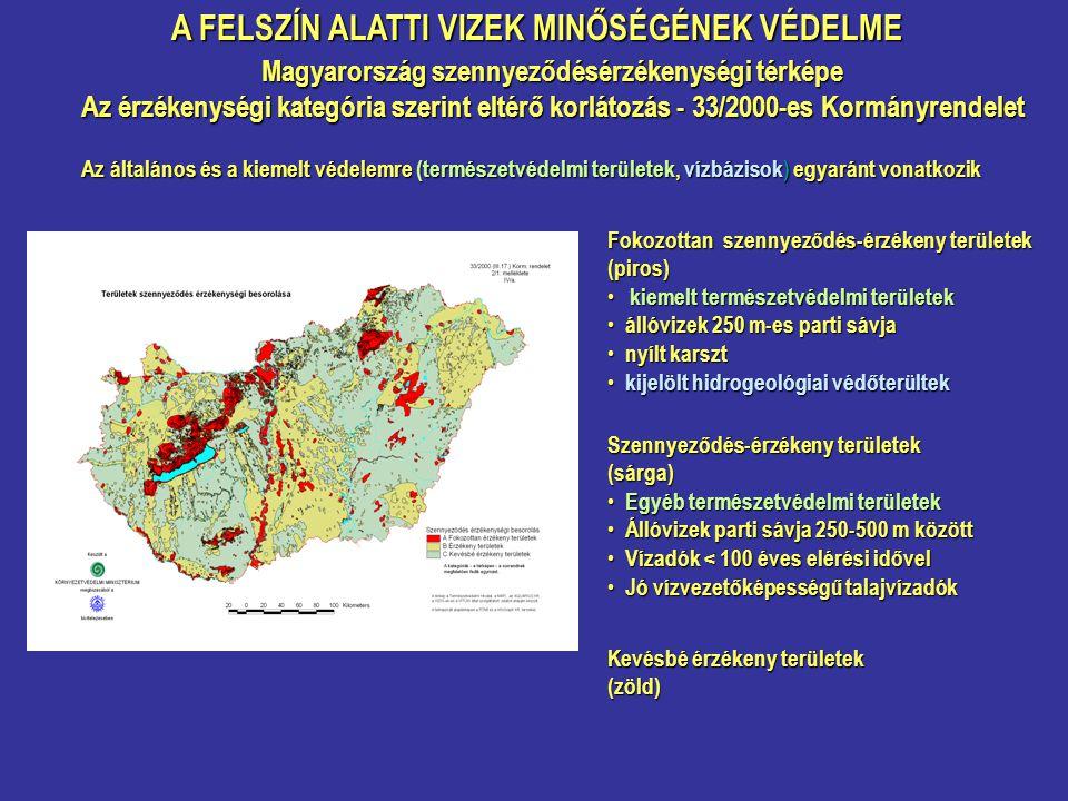 Magyarország szennyeződésérzékenységi térképe