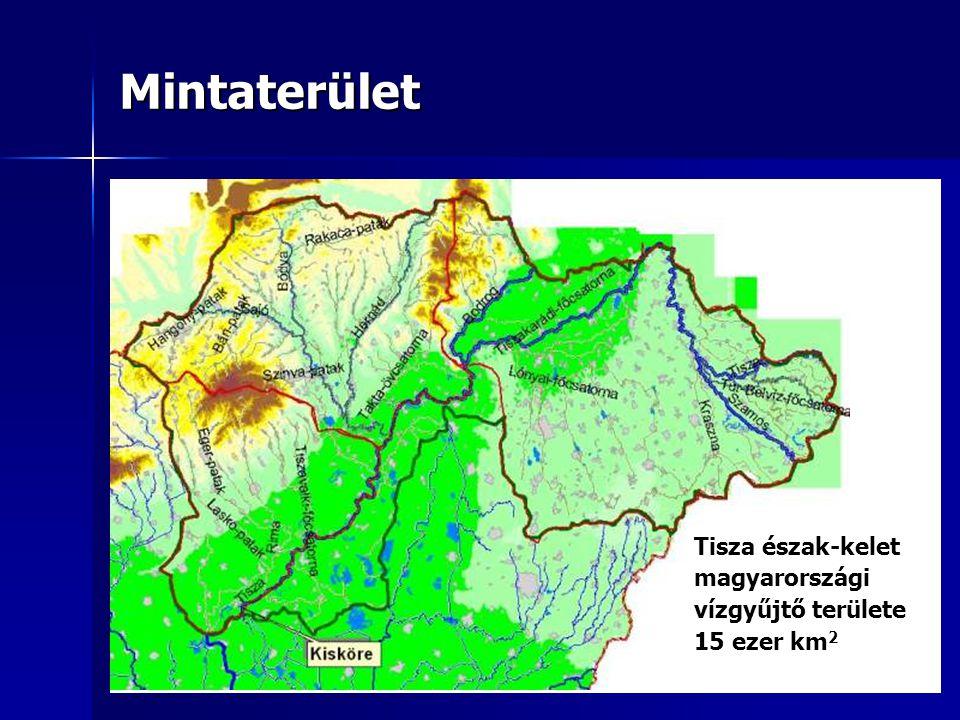 Mintaterület Tisza észak-kelet magyarországi vízgyűjtő területe