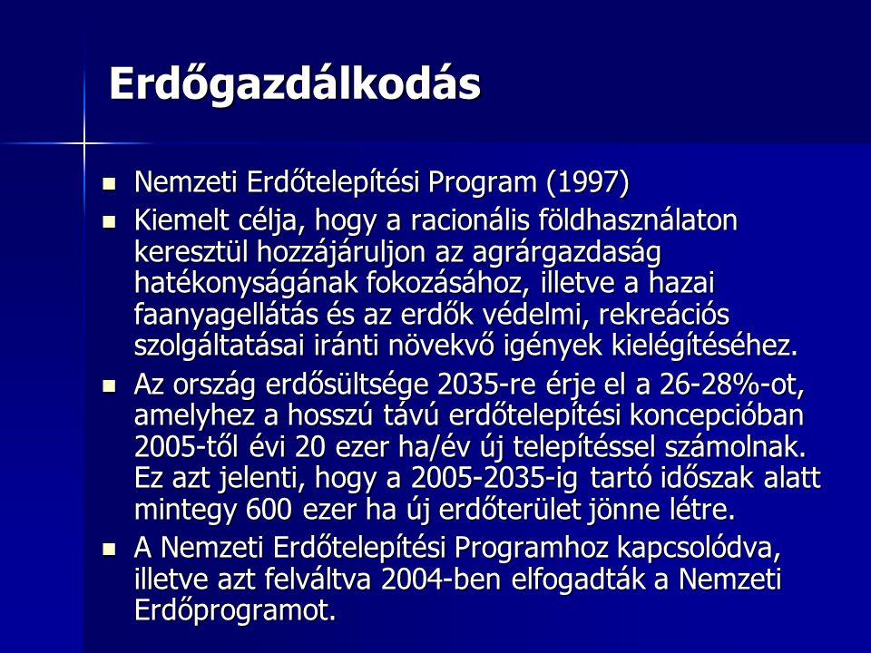 Erdőgazdálkodás Nemzeti Erdőtelepítési Program (1997)