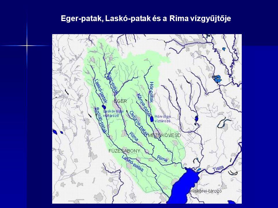 Eger-patak, Laskó-patak és a Rima vízgyűjtője