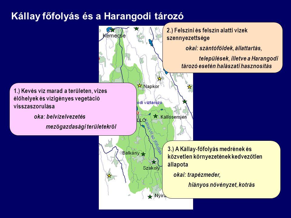 Kállay főfolyás és a Harangodi tározó