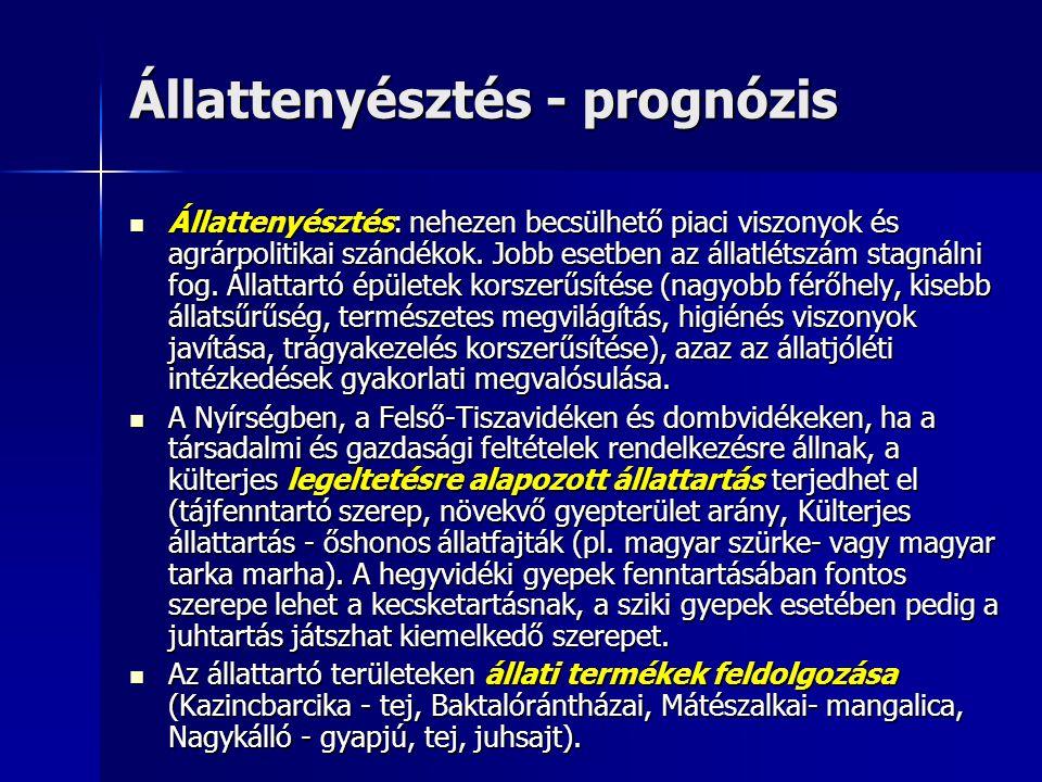Állattenyésztés - prognózis