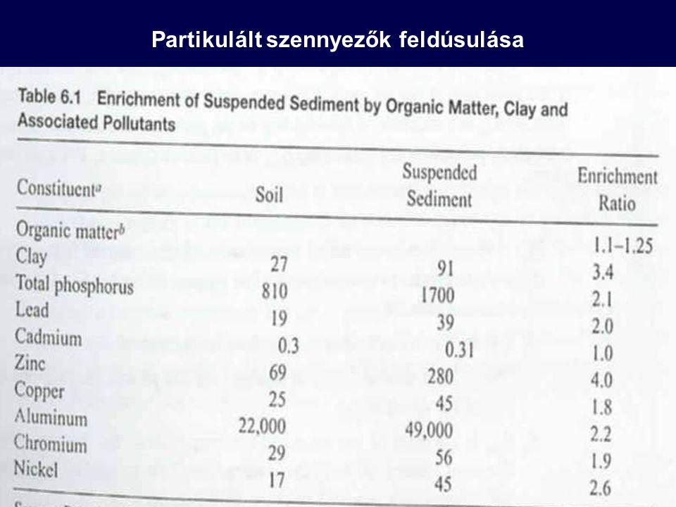 Partikulált szennyezők feldúsulása