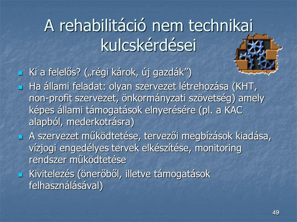 A rehabilitáció nem technikai kulcskérdései