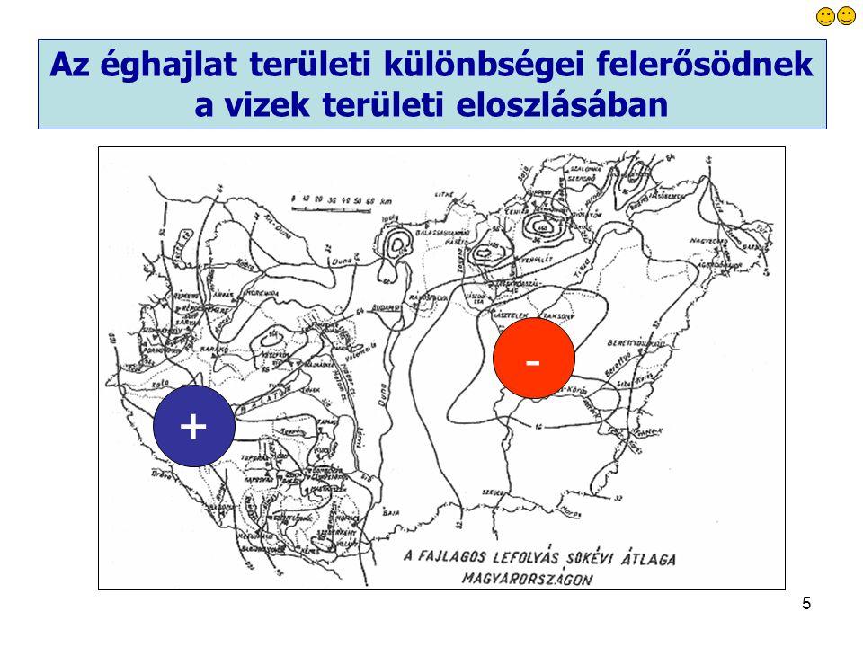 Az éghajlat területi különbségei felerősödnek a vizek területi eloszlásában