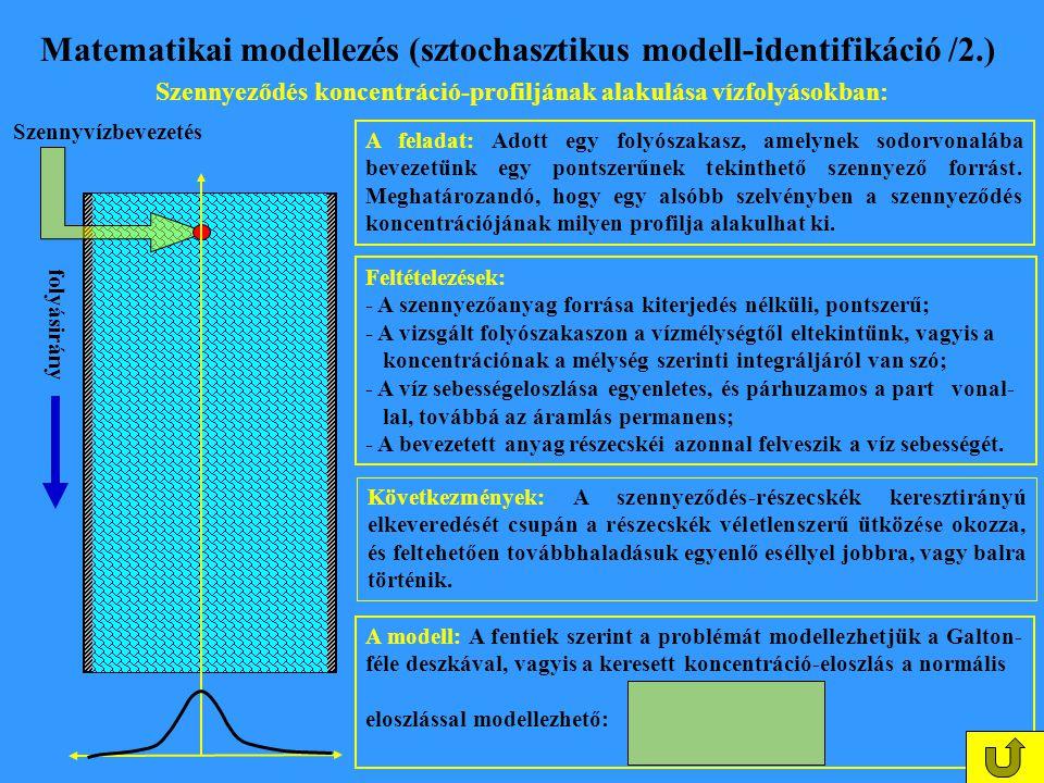 Matematikai modellezés (sztochasztikus modell-identifikáció /2.)