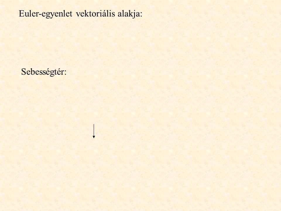 Euler-egyenlet vektoriális alakja: