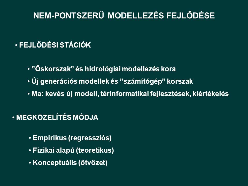 NEM-PONTSZERŰ MODELLEZÉS FEJLŐDÉSE