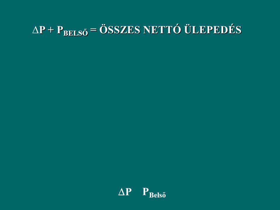 DP + PBELSŐ = ÖSSZES NETTÓ ÜLEPEDÉS