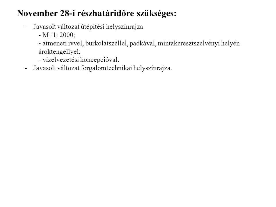 November 28-i részhatáridőre szükséges: