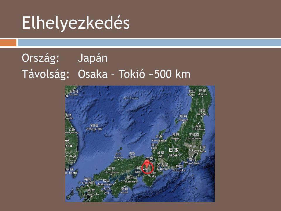 Elhelyezkedés Ország: Japán Távolság: Osaka – Tokió ~500 km