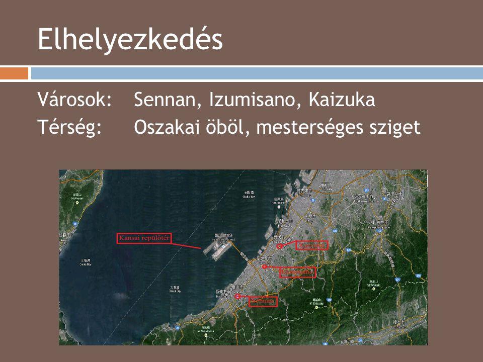Elhelyezkedés Városok: Sennan, Izumisano, Kaizuka Térség: Oszakai öböl, mesterséges sziget 2014.04.15.