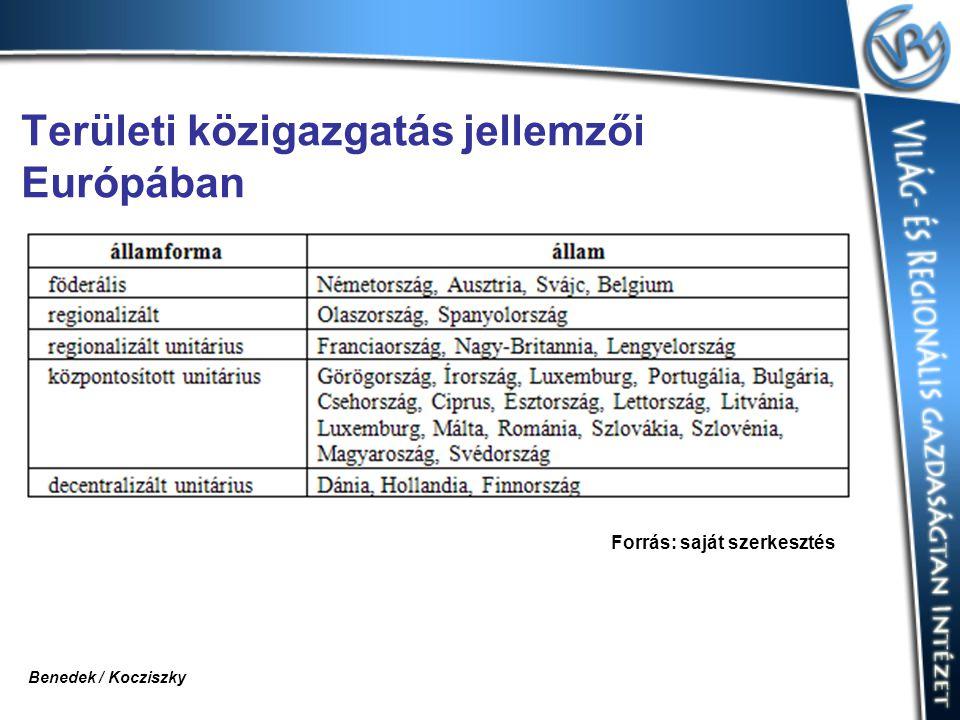 Területi közigazgatás jellemzői Európában