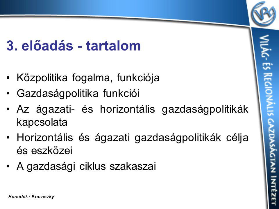 3. előadás - tartalom Közpolitika fogalma, funkciója
