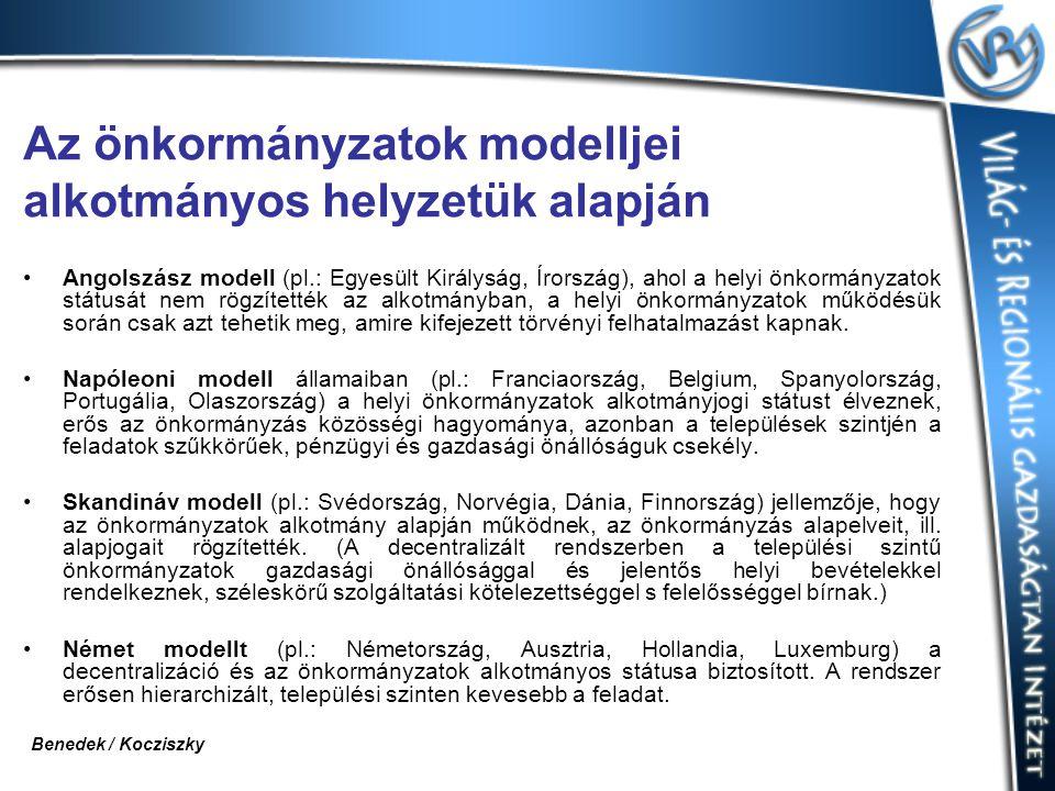 Az önkormányzatok modelljei alkotmányos helyzetük alapján