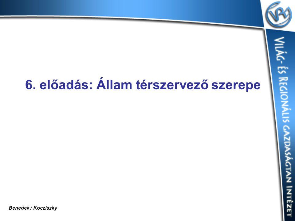 6. előadás: Állam térszervező szerepe