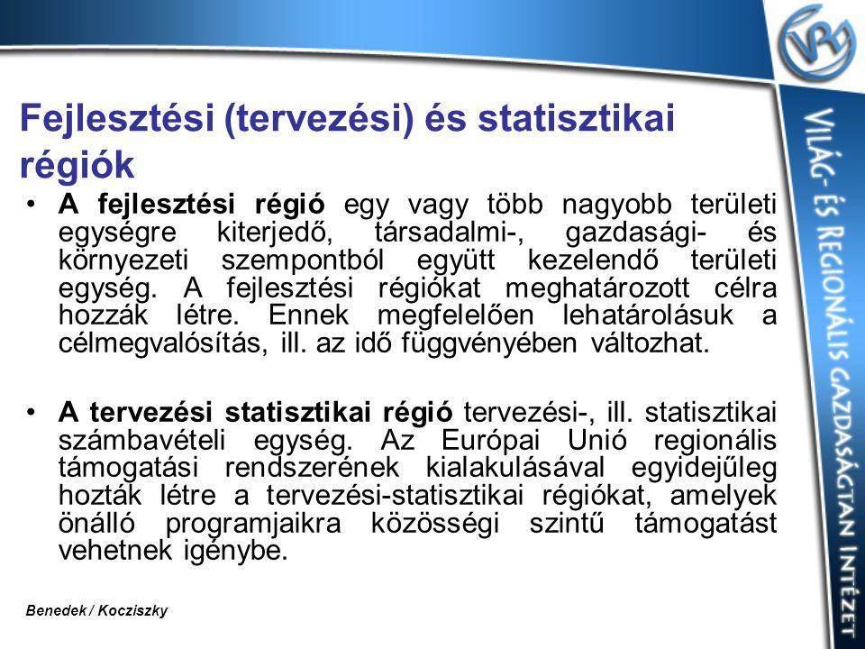 Fejlesztési (tervezési) és statisztikai régiók