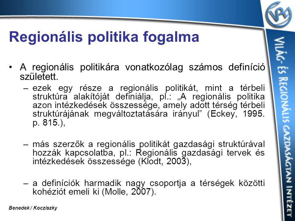 Regionális politika fogalma