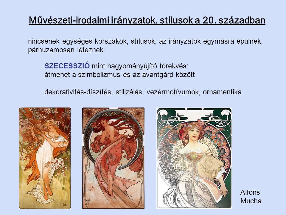 Művészeti-irodalmi irányzatok, stílusok a 20. században