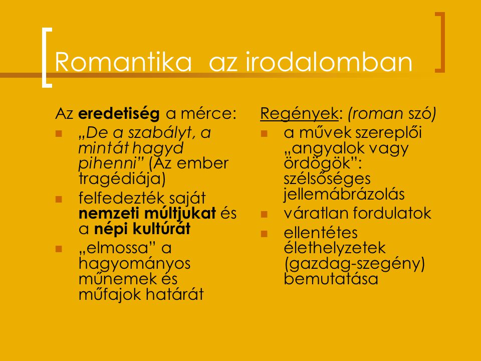 Romantika az irodalomban