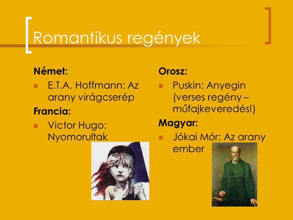 Romantikus regények Német: E.T.A. Hoffmann: Az arany virágcserép