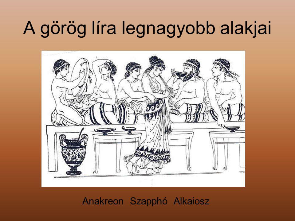 A görög líra legnagyobb alakjai