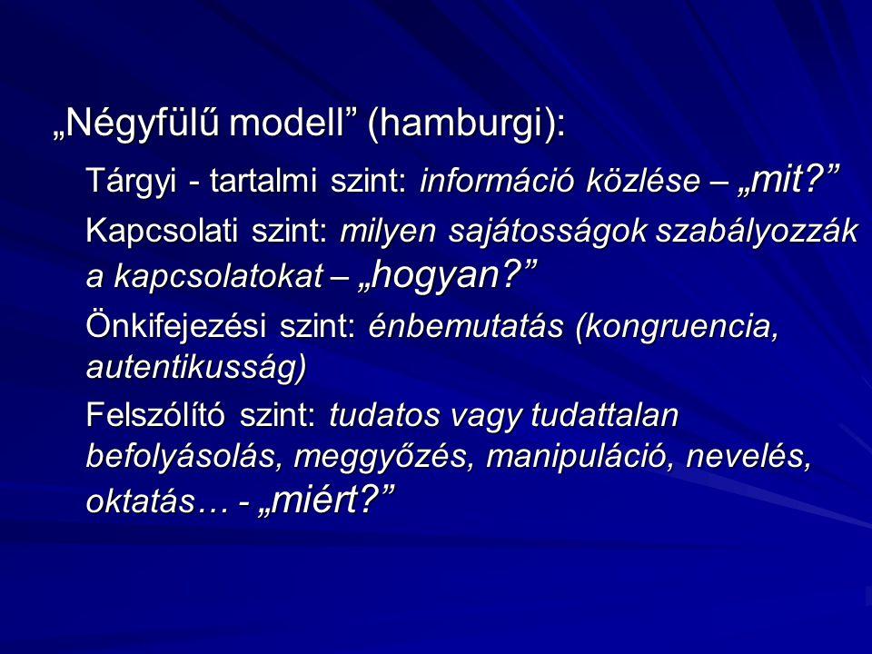 """""""Négyfülű modell (hamburgi):"""