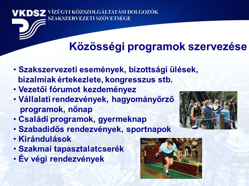 Közösségi programok szervezése