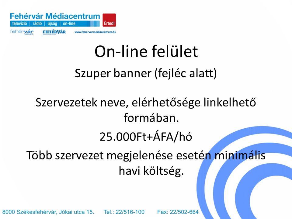 On-line felület